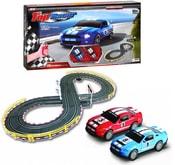 Autodráha 1:43 Top Racer 240cm set 2 auta s ovladači 4 varianty tratě