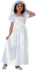 Kostým pro děti Šaty bílé nevěsta vel.M (102-130 cm) 5-9 let