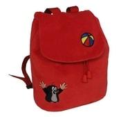 Krtek (krteček) ČERVENÝ batoh s výšivkou