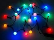 Světelný LED řetěz koule