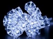 Světelný LED řetěz kostky ledu