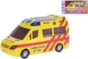 Auto ambulance 21cm narážecí na baterie v krabičce Světlo Zvuk plast