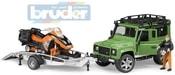 02594 (2594) Auto Land Rover set se skútrem a figurkou model 1:16 plast
