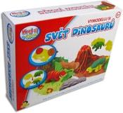 Plastelína Svět dinosaurů set modelína s tvořítky v krabici