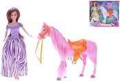Panenka kloubová 29cm set s koněm 25cm 2 barvy v krabici