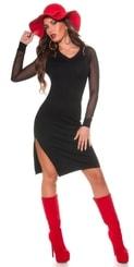 Dámské šaty z úpletu in-sat1027bl