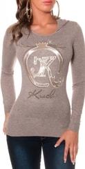 Dívčí svetr s kapucí in-sv1160ca