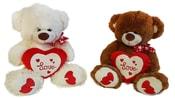 Plyšový medvěd se srdcem LOVE, 42 cm