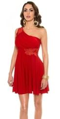 Krátké červené plesové šaty in-sat1204re
