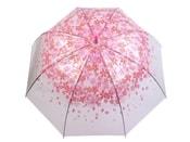 Dámský průhledný vystřelovací deštník