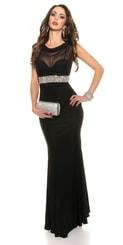 Šaty na ples černé in-sat1203bl