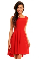 Elegantní červené šaty KM144