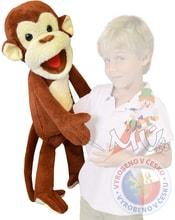 Maňásek Opice 80cm na ruku