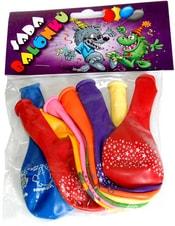 Barevné balonky nafukovací s potiskem sada 9ks v sáčku