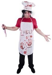 Kostým krvavý kuchař, 2 ks, dospělý