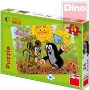 Puzzle 24 dílků Krtek a Myška (Krteček) 26x18cm v krabici