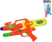 Pistole dětská vodní plastová 42cm 2 barvy v sáčku se zásobníkem