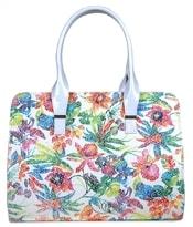 Bílá kabelka s květy S567
