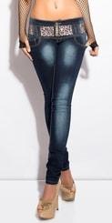 Úzké džíny dámské s páskem in-ri1038