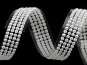 Samolepící páska šíře 13 mm perly a kamínky