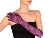 Společenské rukavice 43 cm krajkové