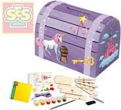 Kreativní set vyrob si a ozdob pokladničku truhla pro princeznu SES 14522