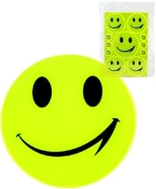 Samolepka žlutá reflexní Smajlík pro školáky (smail) set 11ks 3 velikosti v sáčk