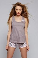 Dámské letní pyžamo Lisa mocca