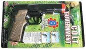 Pistole dětská plastová na kapsle 8 ran 17 cm na kartě