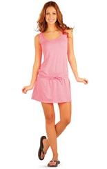 Růžové letní šaty 89303