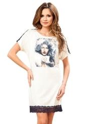 Dámská noční košile s obrázkem dámy