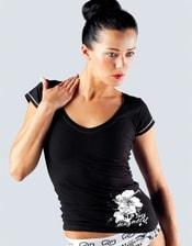 Dámské tričko s krátkým rukávem s potiskem 18035P