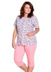Dámské capri pyžamo nadměrné velikosti Wera