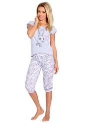 Dámské pyžamo s capri kalhotami Daga