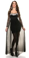 Černé dlouhé plesové šaty in-sat1121bl