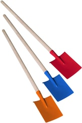 Dětské nářadí pracovní 80cm zahradní rýč kovový 3 barvy
