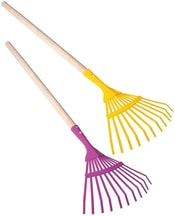 Dětské nářadí pracovní 80cm zahradní hrábě planžetové 2 barvy