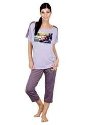 Dámské pyžamo s capri kalhotami Urban