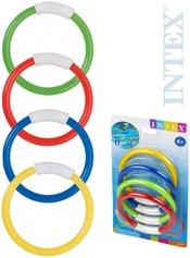 Kruhy barevné potápěčské plastové do vody set 4 barvy 55501