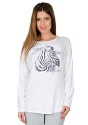 Dámské tričko dlouhý rukáv s obrázkem zebry