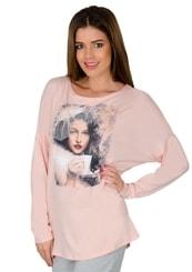 Dámské tričko dlouhý rukáv s obrázkem dámy