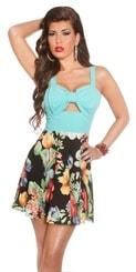 Letní květované šaty in-sat1126mi