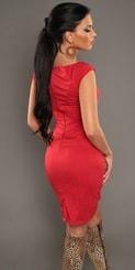 Elegantní dámské šaty červené in-sat1081re
