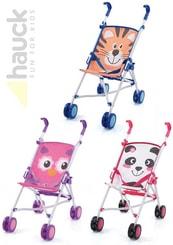 Kočárek sportovní golfové hole se zvířátkem ZOO pro panenku 3 druhy