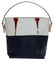 Modro-bílo-červená kabelka na rameno S578