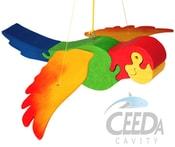 Papoušek skákací k zavěšení na pružině