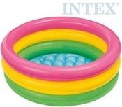 Bazének dětský nafukovací tříbarevný 61x22cm na vodu 57107