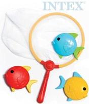Síťka do vody chytání rybiček set se 3 rybičkami plast 55506