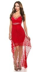 Koktejlové šaty červené in-sat1210re
