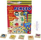 Pexeso set 40 dílků 4x4cm v krabičce s obrázky